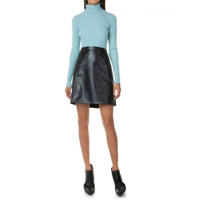 Toi & Moi φούστα mini από δερματίνη 10-0981-29
