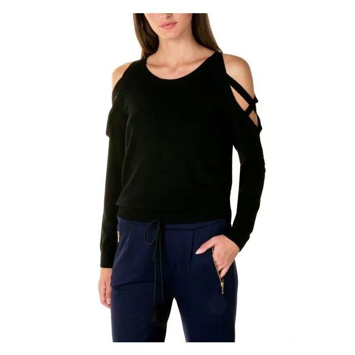 Toi & Moi μπλούζα πλεκτή σχέδιο στους ώμους 70-3582-29
