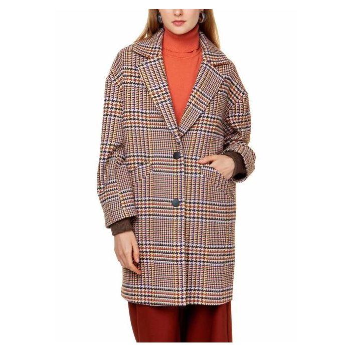 Toi & Moi παλτό καρό 60-1057-29