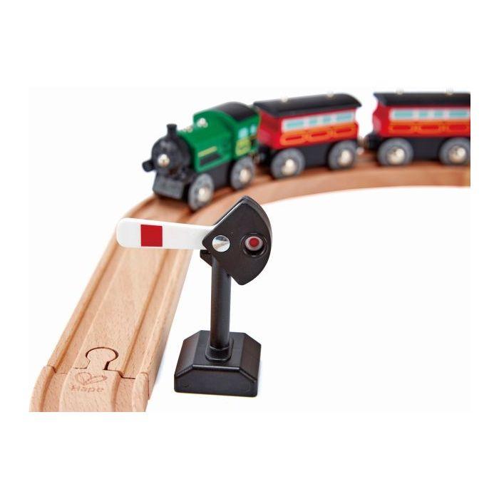 Hape Railway Ξύλινο Σετ Mechanical Railway Signals 401916003724