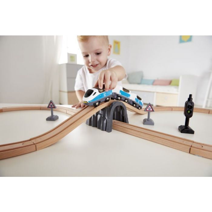 Hape Railway Ξύλινο Safety Τρένο Σετ 401916003729