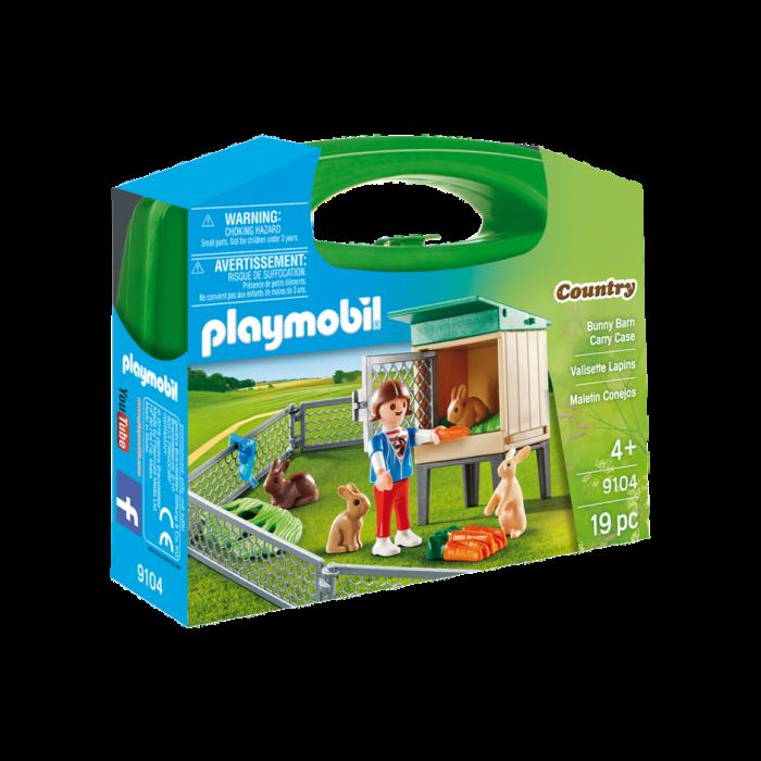 Playmobil Βαλιτσάκι Φροντίζοντας Τα Κουνελάκια 9104