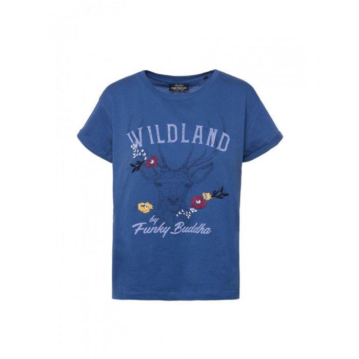 Funky Buddha t-shirt με τύπωμα FBL119-04219
