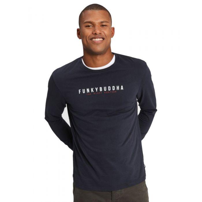 Funky Buddha t-shirt μακρυμάνικο FBM001-07219