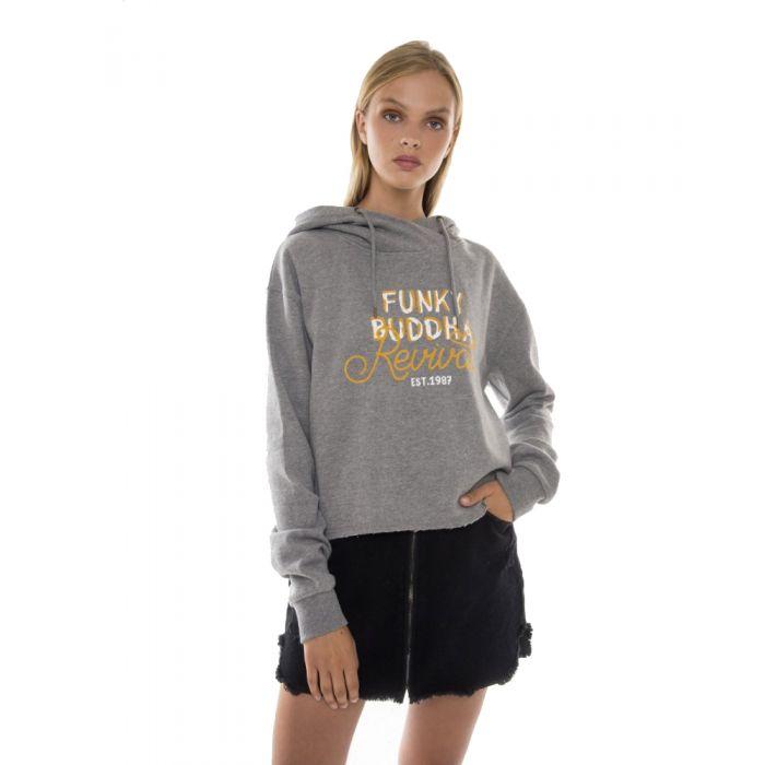 Funky Buddha μπλούζα φούτερ με κουκούλα FBL103-06219