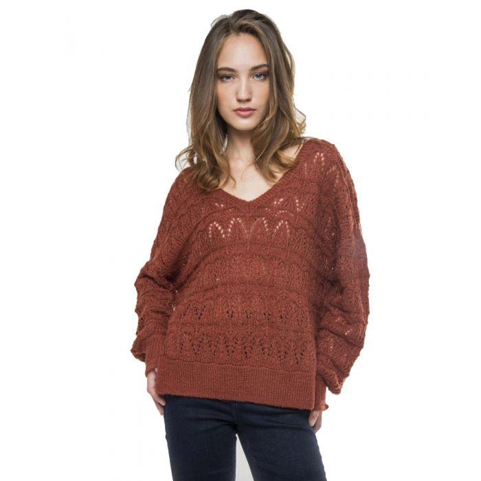 Funky Buddha μπλούζα πλεκτή FBL110-09219