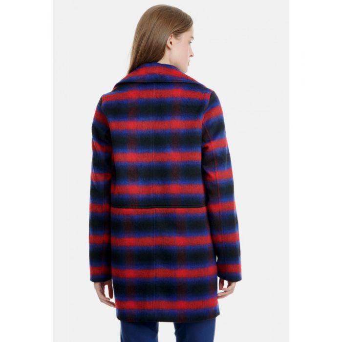 Funky Buddha παλτό καρό FBL111-01219