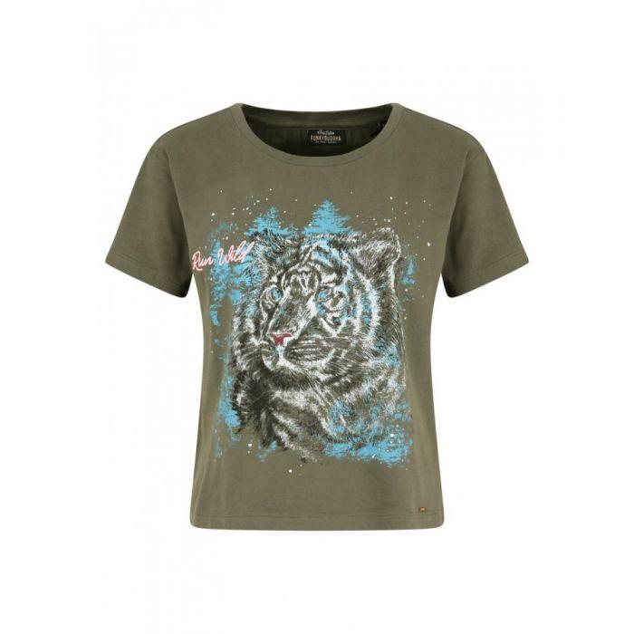 Funky Buddha t-shirt με τύπωμα FBL111-04219