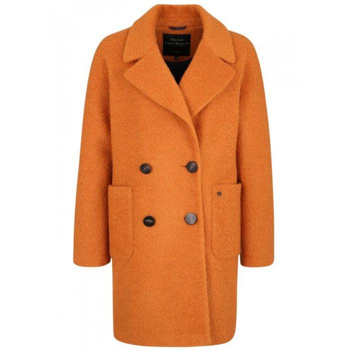 Funky Buddha παλτό μπουκλέ FBL114-01219