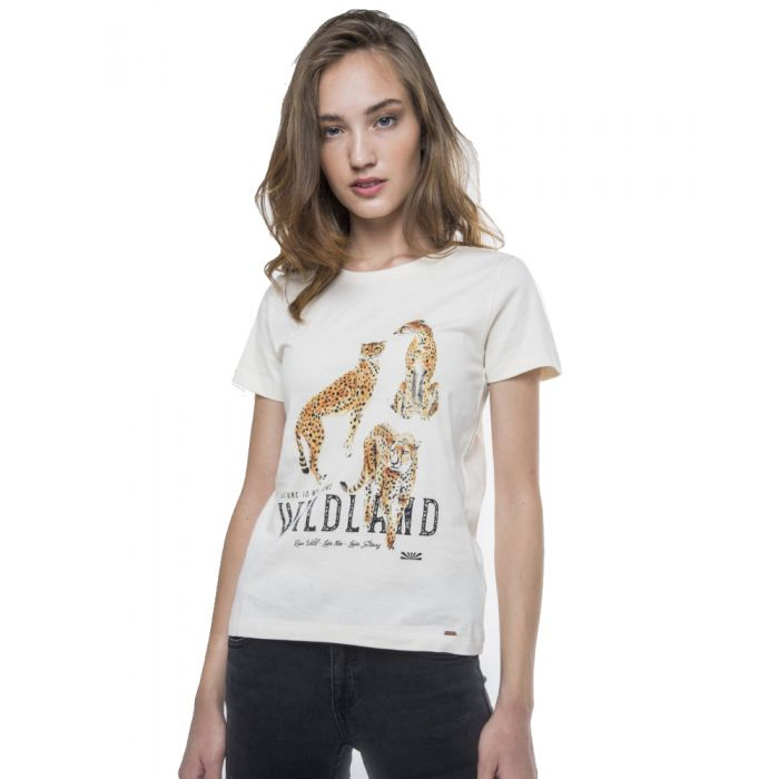 Funky Buddha t-shirt με τύπωμα FBL114-04219