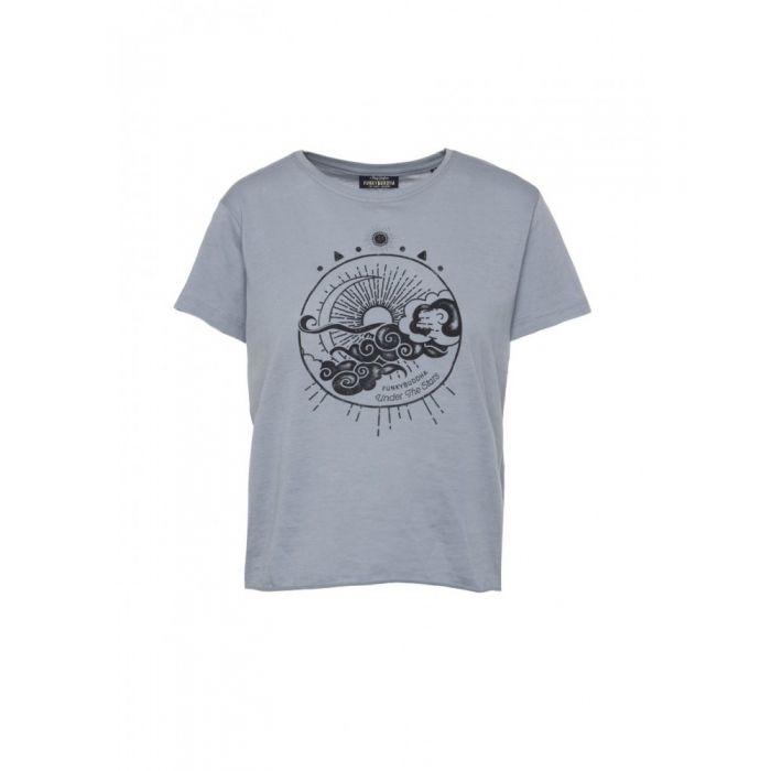 Funky Buddha t-shirt κοντομάνικο με τύπωμα FBL117-04219