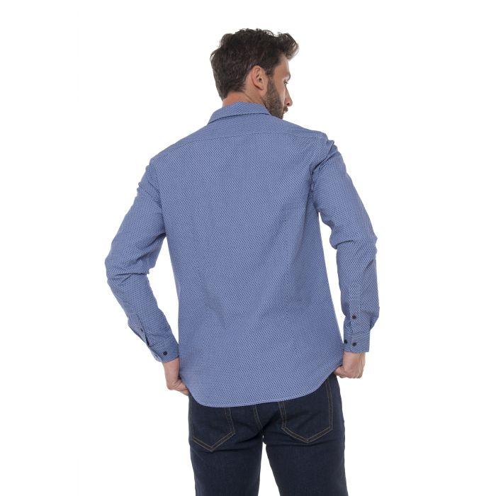 Funky Buddha πουκάμισο μακρυμάνικο σταμπωτό FBM011-05219
