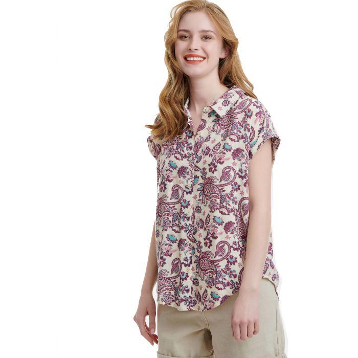 Funky Buddha πουκάμισο κοντομάνικο FBL00111405