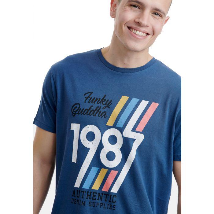 Funky Buddha t-shirt με τύπωμα FBM00105704