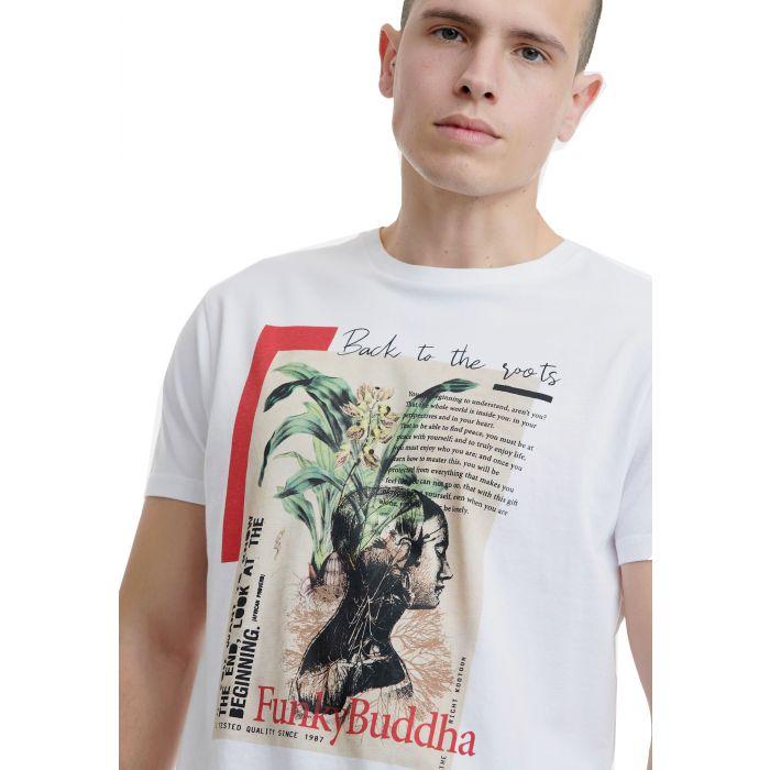 Funky Buddha t-shirt με τύπωμα FBM00106004
