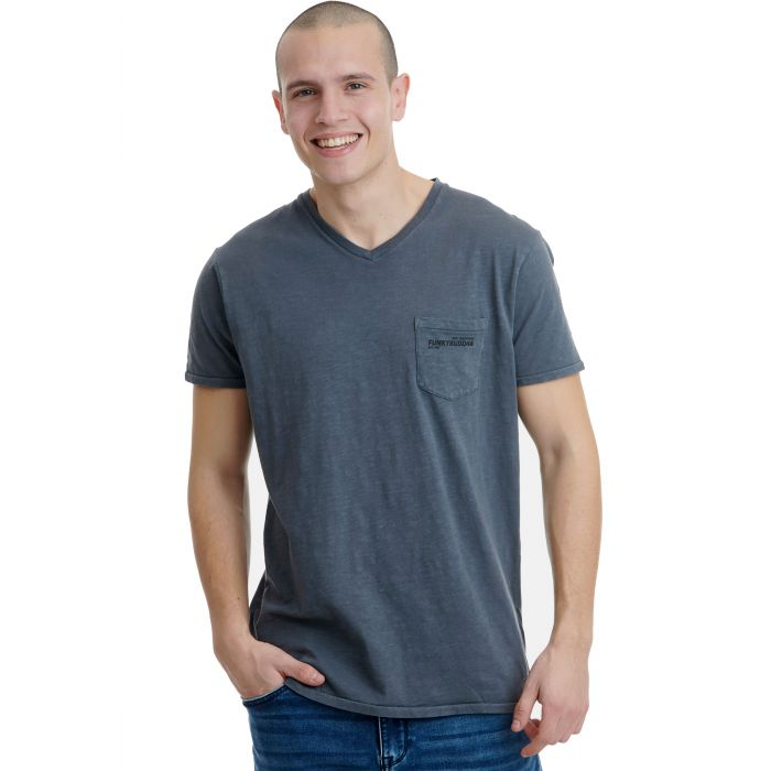 Funky Buddha t-shirt με V λαιμόκοψη FBM00100404