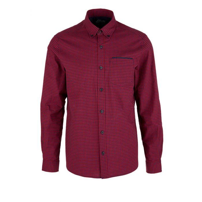 S'Oliver πουκάμισο καρό μακρυμάνικο 03.899.21.5239