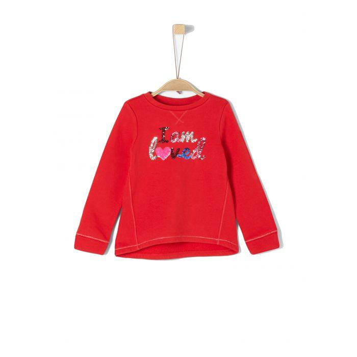S' Oliver μπλούζα φούτερ με παγιέτες 53.909.41.2431