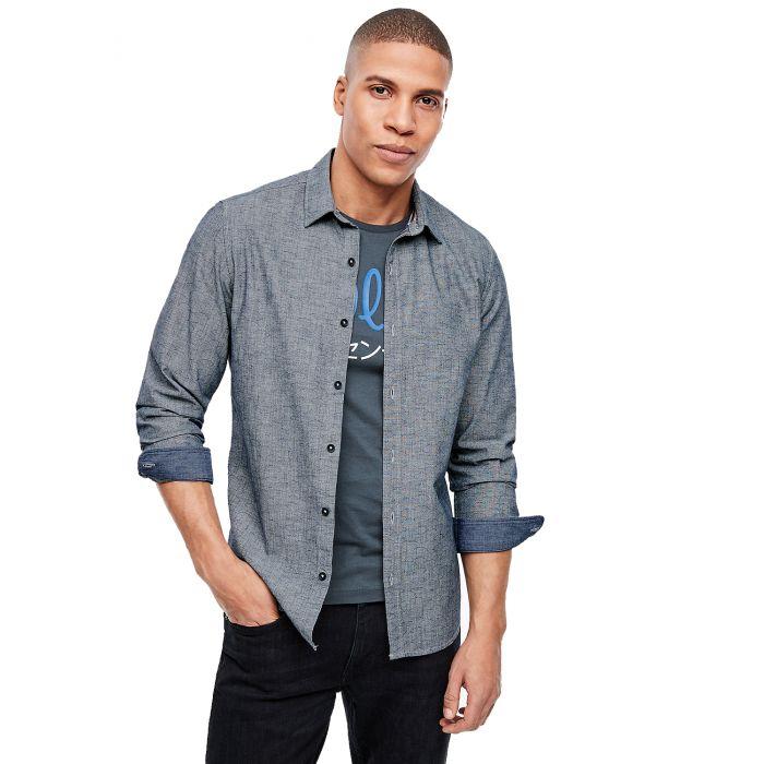 S'Oliver πουκάμισο slim fit σταμπωτό 2023373