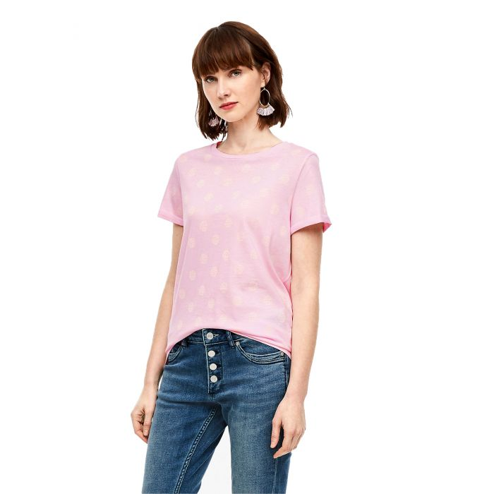 S'Oliver t-shirt κοντομάνικο σταμπωτό 2005829 2005829