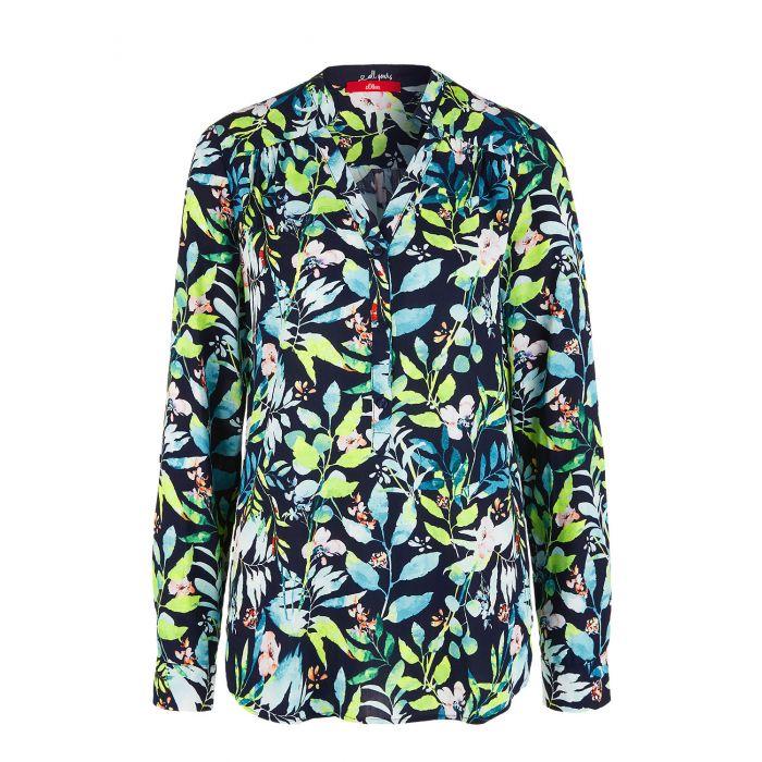 S'Oliver μπλούζα μακρυμάνικη floral 04.899.11.6083