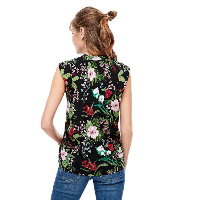 S'Oliver μπλούζα floral αμάνικη 2005928