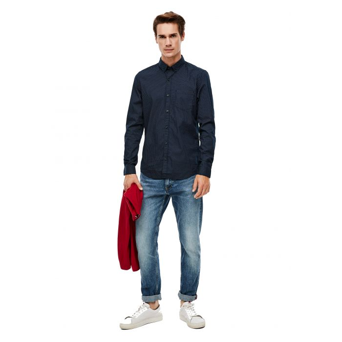 S'Oliver πουκάμισο σταμπωτό 2040466