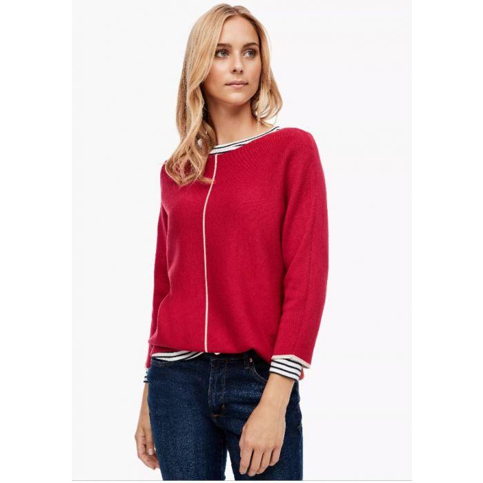 S'Oliver μπλούζα πλεκτή 3/4 μανίκι 2043096