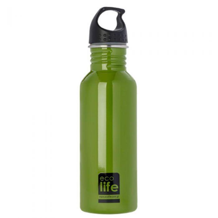 Ecolife Green μεταλλικό μπουκάλι 600ml 33-BO-1004