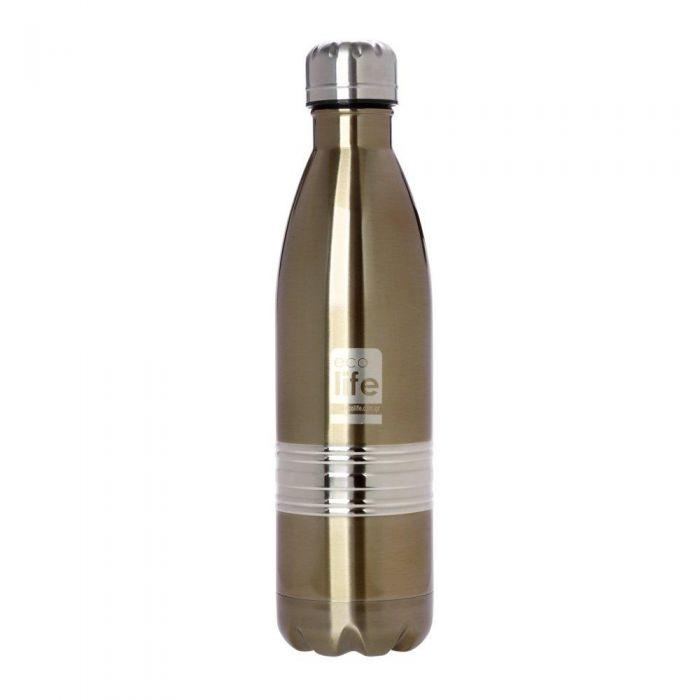EcoLife Bronze μεταλλικό μπουκάλι θερμός 750ml 33-BO-3003