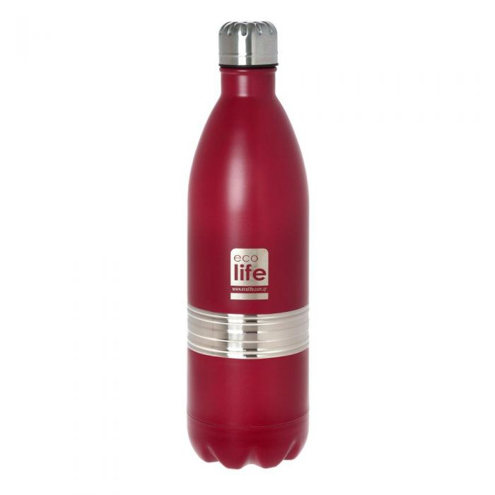 Ecolife Red thermos 1lt (matte) μπουκάλι θερμός 33-BO-3010