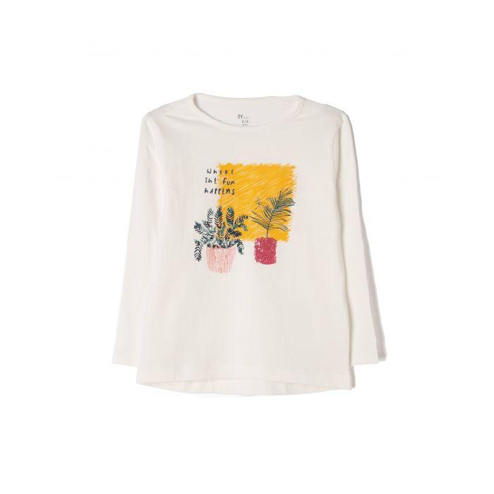 Zippy μπλούζα μακρυμάνικη με τύπωμα ZG0303-456-28