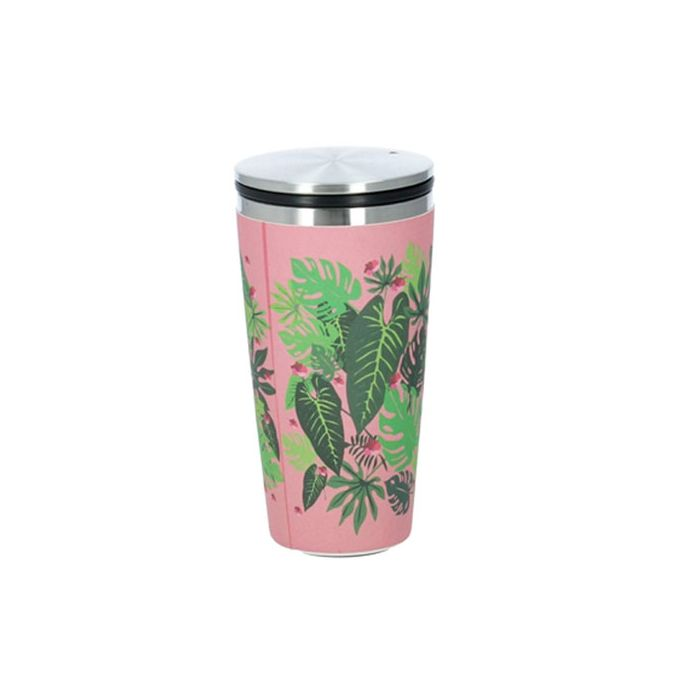 Chic-Mic Deluxe Bamboo Slide Cup Pink Jungle BCS115