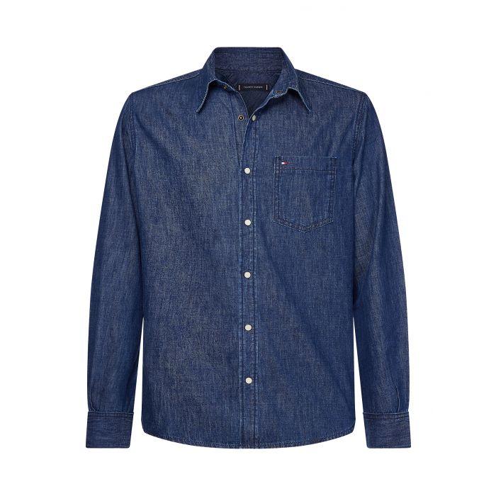 Tommy Hilfiger πουκάμισο τζιν MW0MW12553