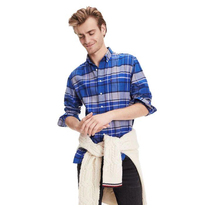 Tommy Hilfiger πουκάμισο καρό tartan MW0MW10690