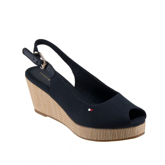 Tommy Hilfiger Iconic Elba Sling Back Wedge παπούτσια πλατφόρμες FW0FW04788