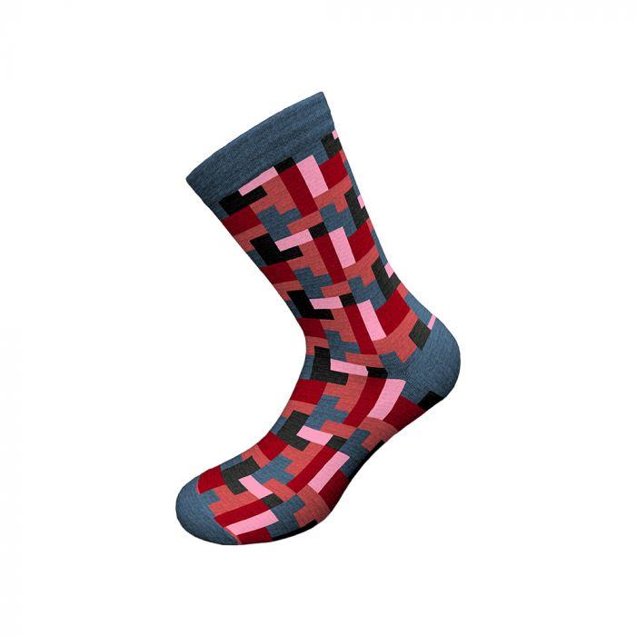 Walk κάλτσα μάλλινη με σχέδιο W230-2