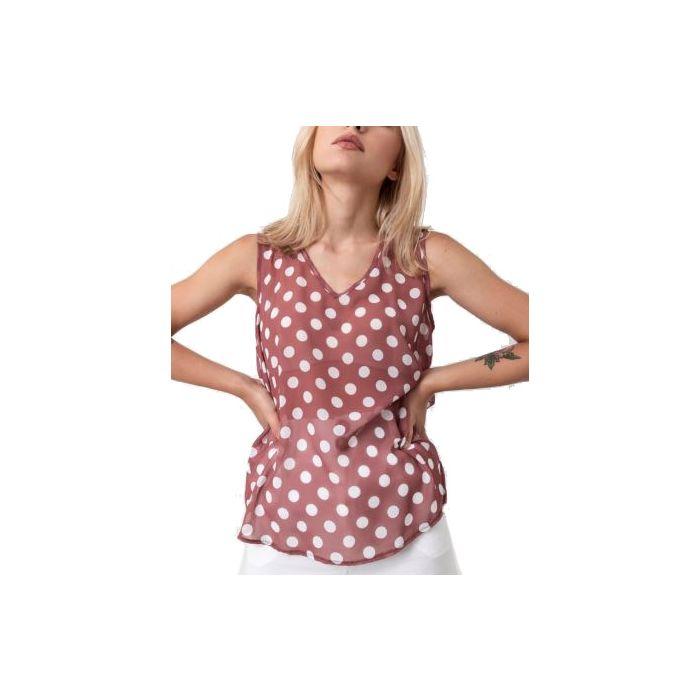 Helmi μπλούζα αμάνικη πουά 45-02-018