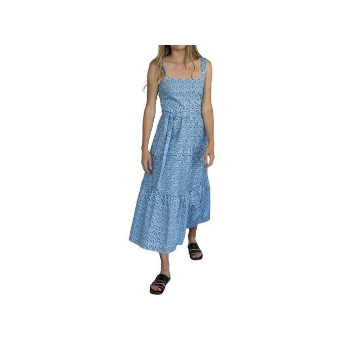 Helmi φόρεμα midi με βολάν 46-05-088
