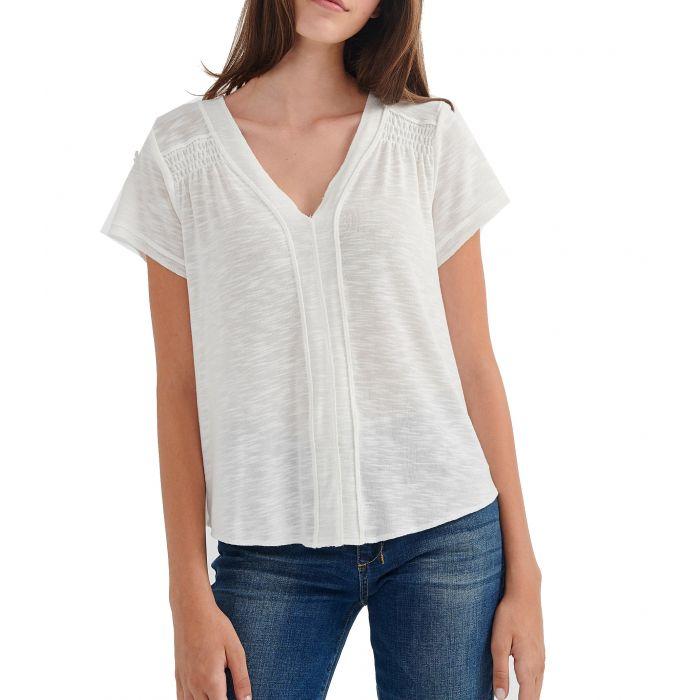Attrattivo μπλούζα κοντομάνικη με ραφές 92611262