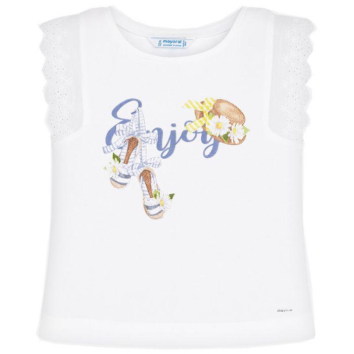 Mayoral μπλούζα αμάνικη με τύπωμα 20-03024