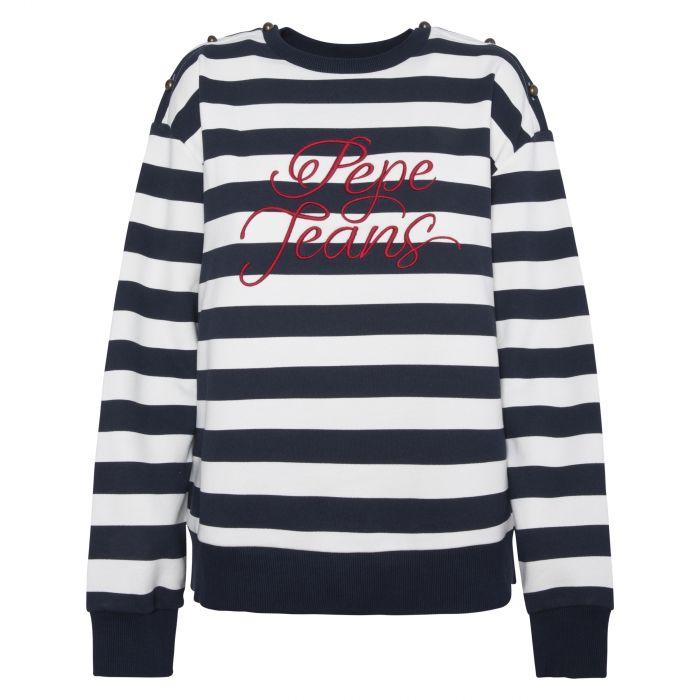 Pepe Jeans Bess μπλούζα φούτερ με ρίγες PL580974