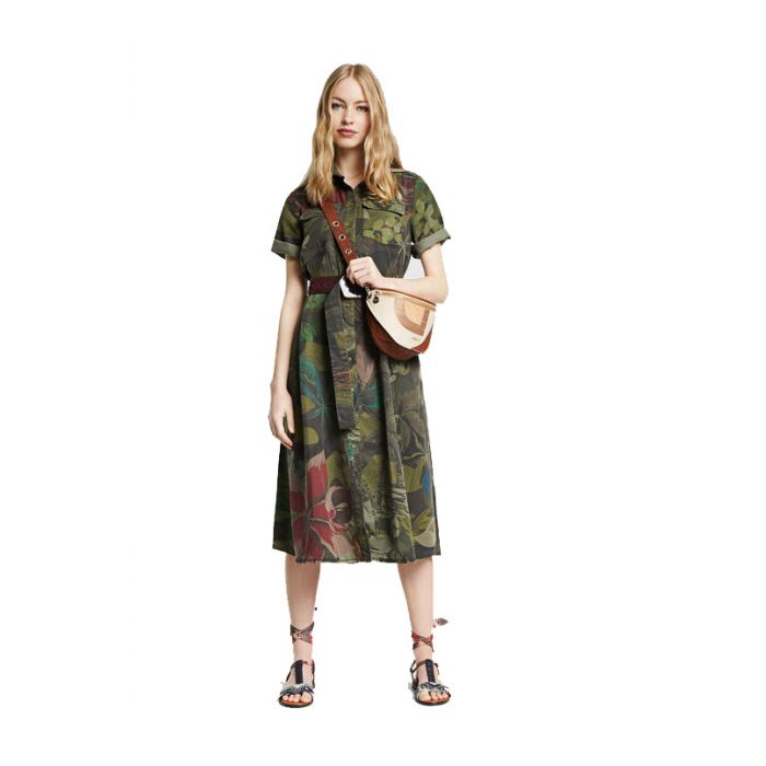 Desigual Kate φόρεμα σεμιιζιέ 20SWVN01