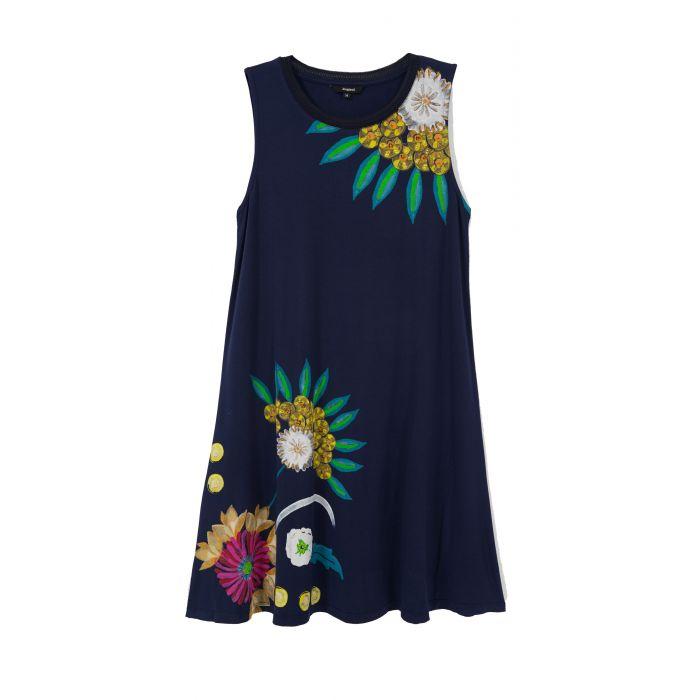 Desigual Love φόρεμα mini αμάνικο 20SWVK07
