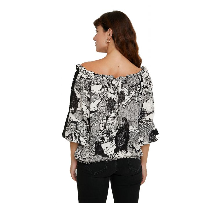 Desigual Melina μπλούζα μακρυμάνικη 20WWBW05
