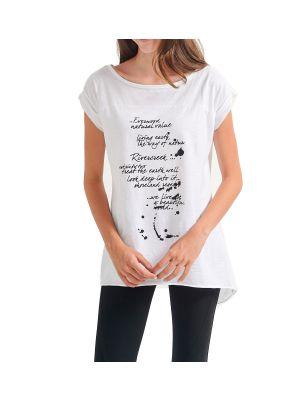 Attrattivo μπλούζα ασύμμετρη με τύπωμα 9911672