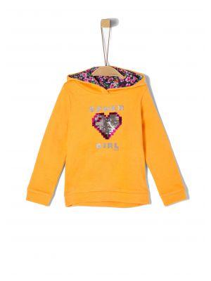 S'Oliver μπλούζα φούτερ με κουκούλα 2041198