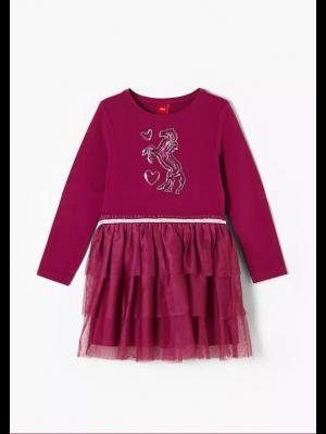 S'Oliver φόρεμα μακρυμάνικο τούλι 2043361
