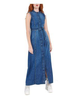 Ale φόρεμα τζιν μακρύ 8911316
