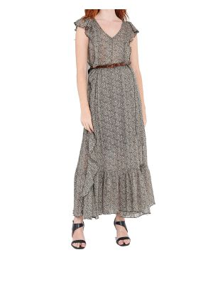 Ale φόρεμα μακρύ animal print 81300831